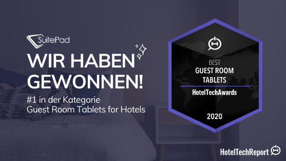 SuitePad gewinnt den HotelTechAward in der Kategorie Guest Room Tablet for Hotels