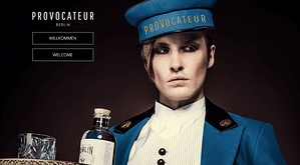 SuitePad Begrüßungsbildschirm des Provocateur Berlin