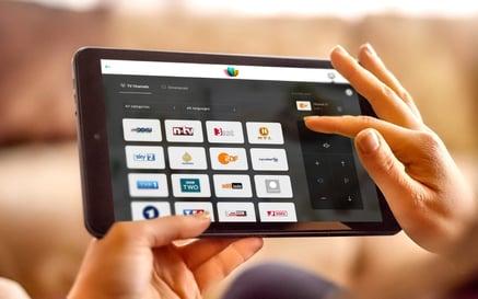 Fernbedienung für Hotelfernseher - das SuitePad Tablet inklusive SuitePad TV Control