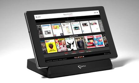 Das digitale Zeitungsangebot auf einem SuitePad Tablet