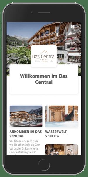 SuitePad BYOD - Pre-Stay - im Hotel Das Central