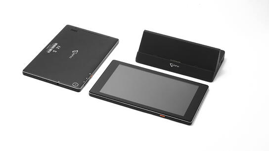 SuitePad tablets and docking stations are easy to clean for housekeeping staff.