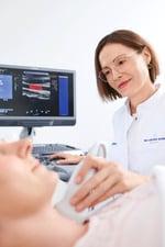 Ultraschall in der Max Grundig Privatklinik