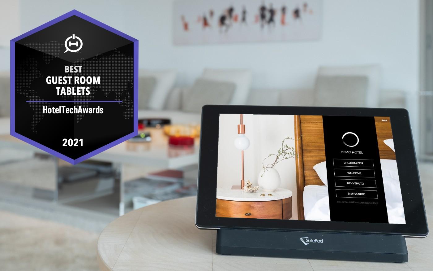 SuitePad wurde als bestes In-Room Tablet ausgezeichnet