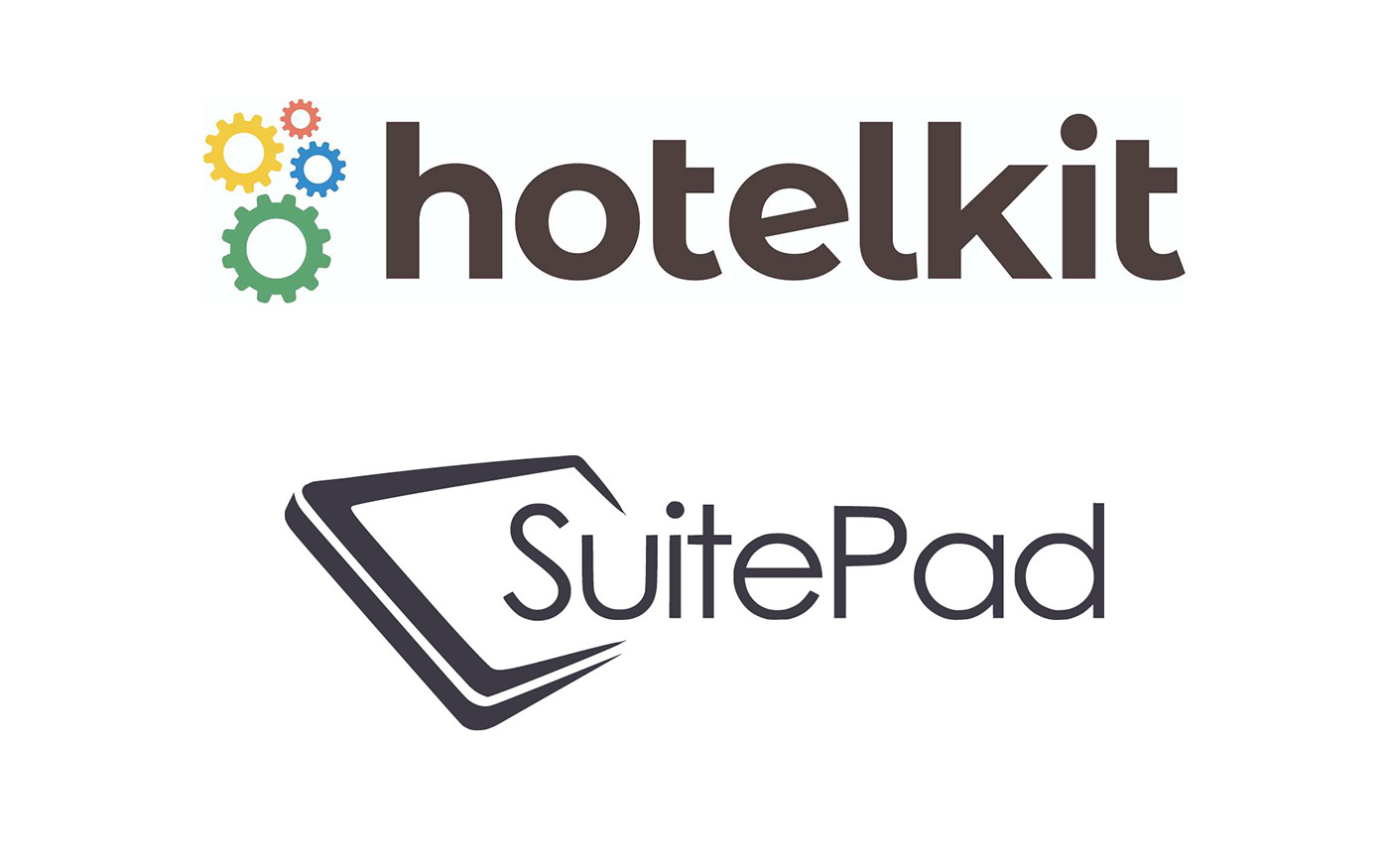SuitePad and hotelkit logo on a white background